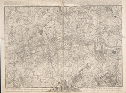 A PLAN of LONDON on the Same Scale as that of PARIS: In Order to ascertain the Difference of the extent of these two Rivals